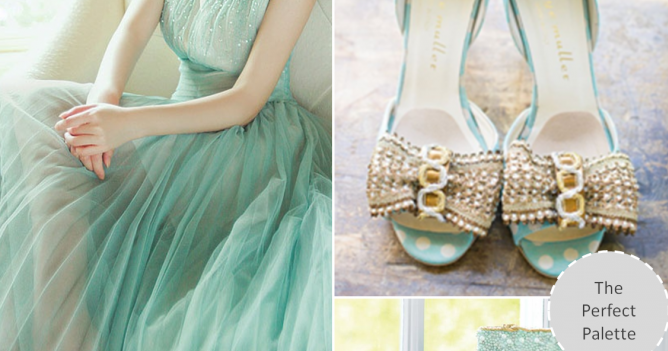 Mint Meets Glittery Gold: Creative Color Ideas