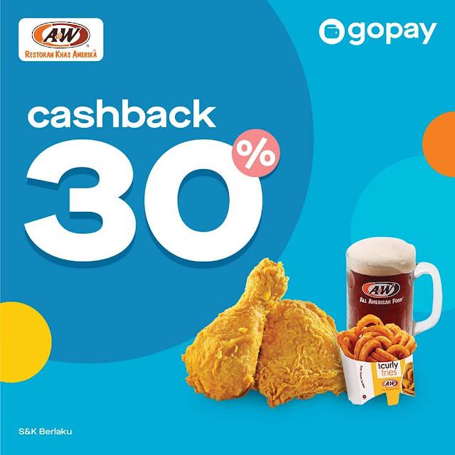 #A&W - #Promo Cashback 30% Makan di A&W Hemat Pakai GOPAY (s.d 30 Sept 2019)