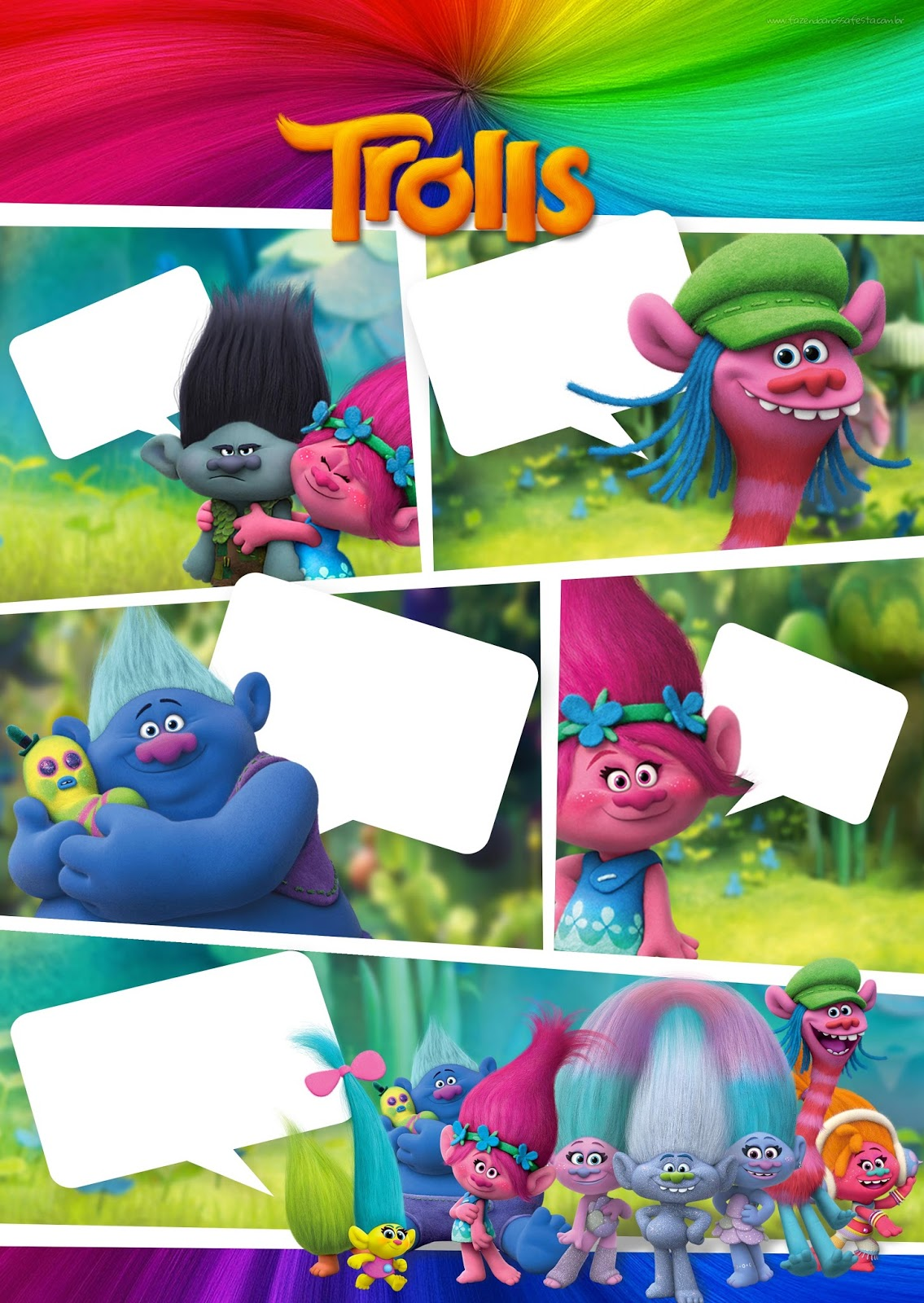 picture relating to Trolls Printable Invitations named Trolls: Absolutely free Printable Invites. - Oh My Fiesta! within english
