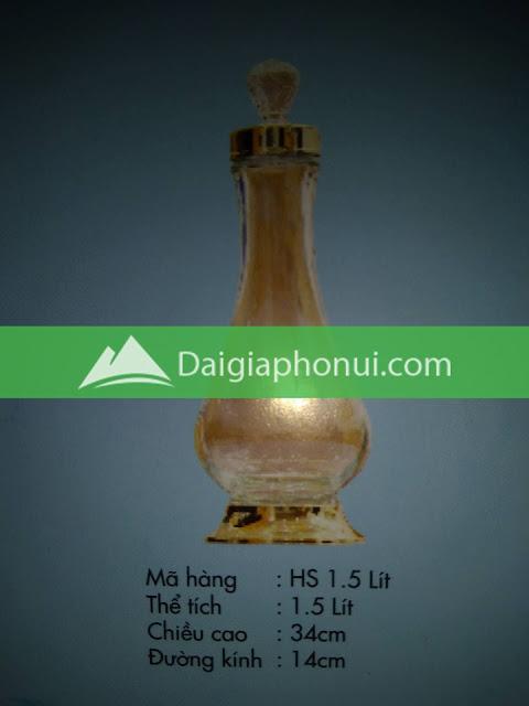 thông số bình ngâm rượu Phú Hoà mã số HS 1.5 LÍT