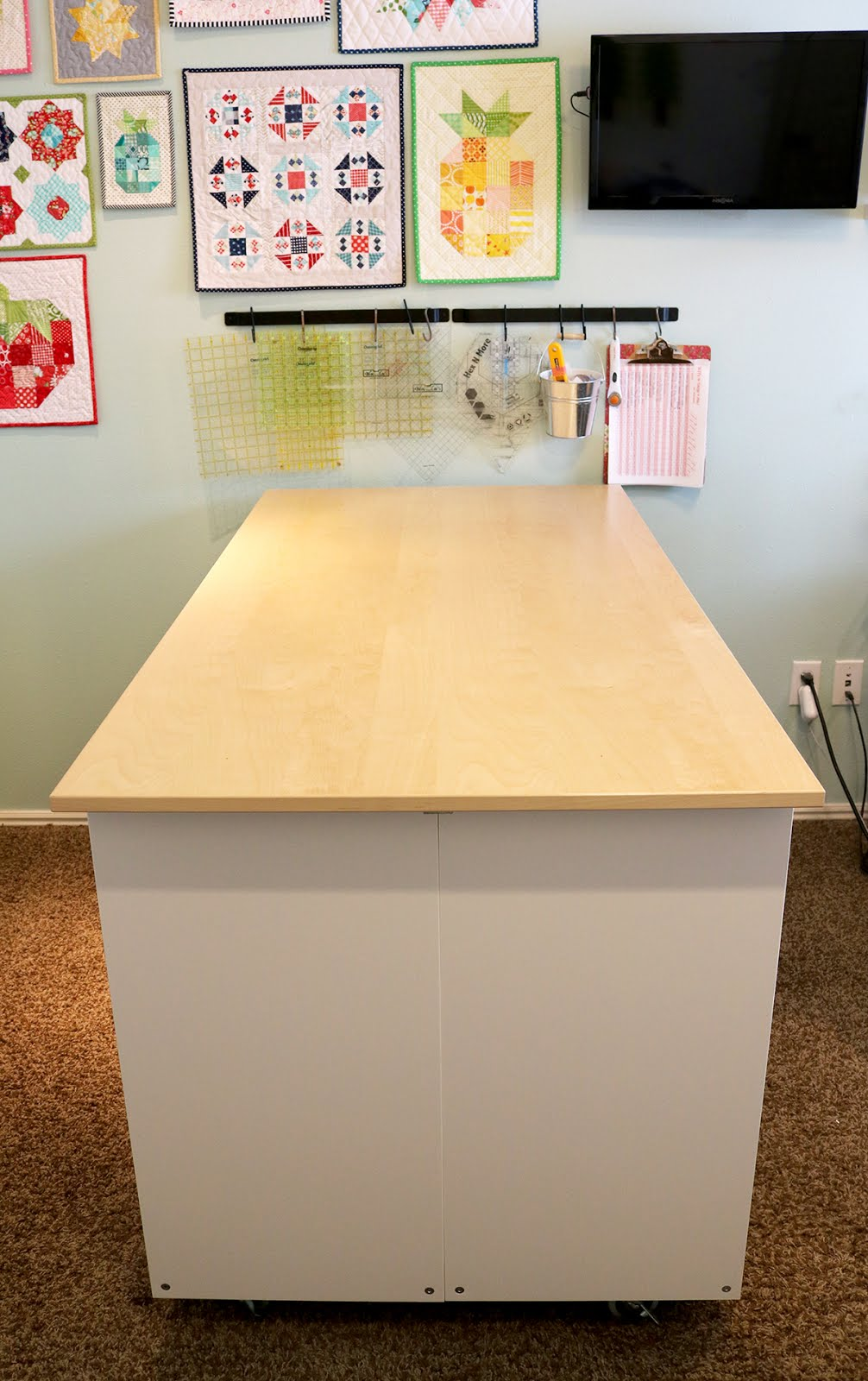 Fine A Bright Corner Diy Sewing Room Cutting Table Ikea Hack Download Free Architecture Designs Lukepmadebymaigaardcom
