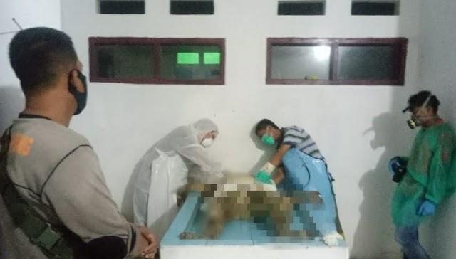 Mayat Anonim dari Pematang Sawa di Autopsi Satreskrim Polres Tanggamus ke RS Bhayangkara