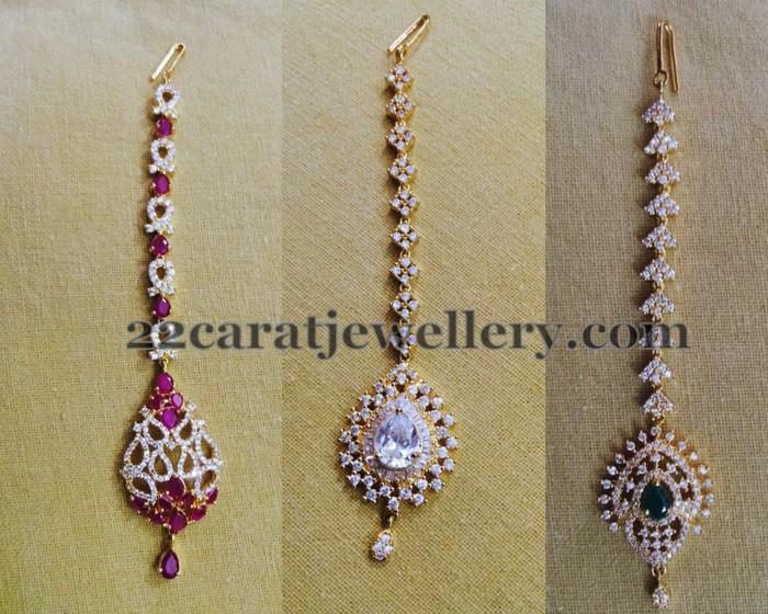1 Gram Gold Maang Tikka Sets - Jewellery Designs