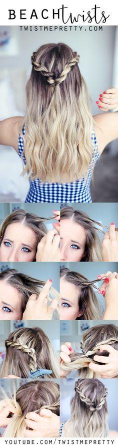 cute summer twists/beach hairstyle