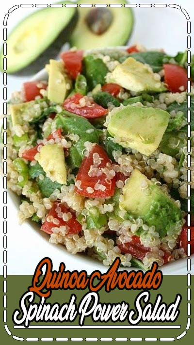 Easy Quinoa Power Salad with creamy avocado! One of our all-time favorite salads that's full of energizing, plant-based goodness. (Vegan, gluten-free, oil-free)