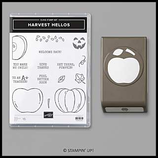 Cute apple home decor sampler with Harvest Hellos stamp set and punch.