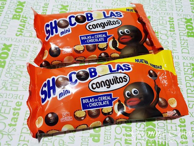 Conguitos mini shocobolas Caja Degustabox - Febrero ´18