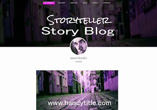 Blogger theme for stories blog