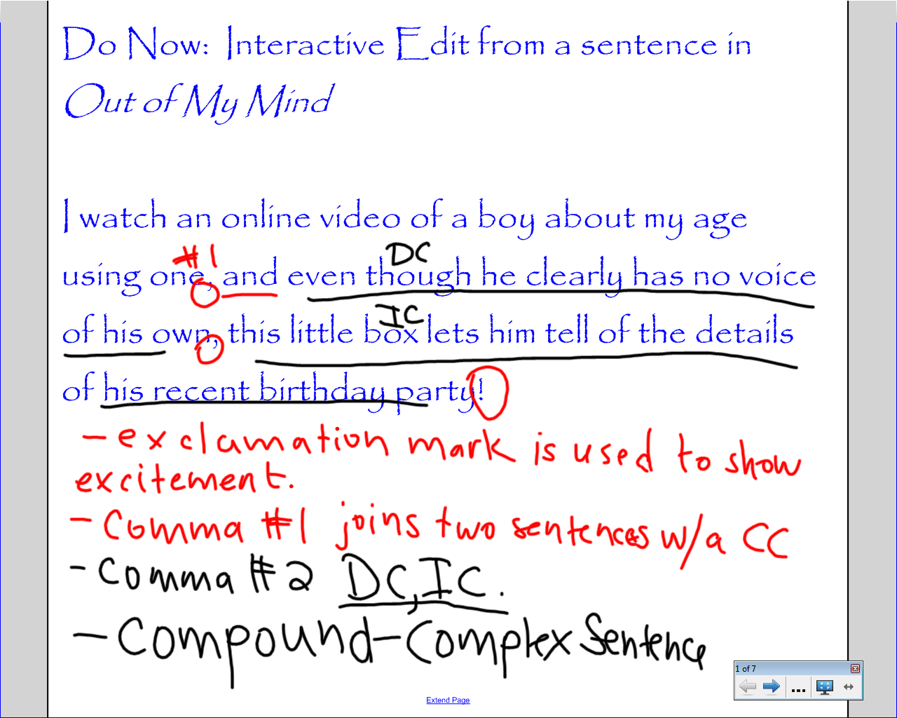 Using Mentor Sentences to Improve Grammar and Mechanics