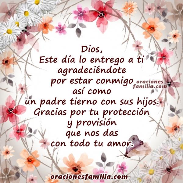 Oración de inicio del día, oraciones cristianas de buenos días, Salmo 103,  bendición de Dios, frases por Mery Bracho.