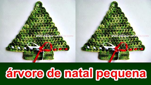 edinir croche ensina árvore de natal em croche