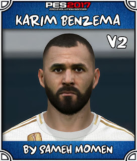 PES 2017 Faces Karim Benzema by Sameh Momen