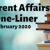 Current Affairs One-Liner: 4th February 2020