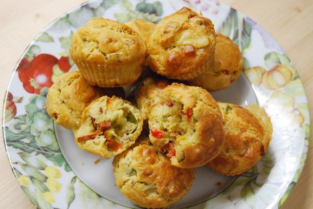Muffins poivrons chorizo