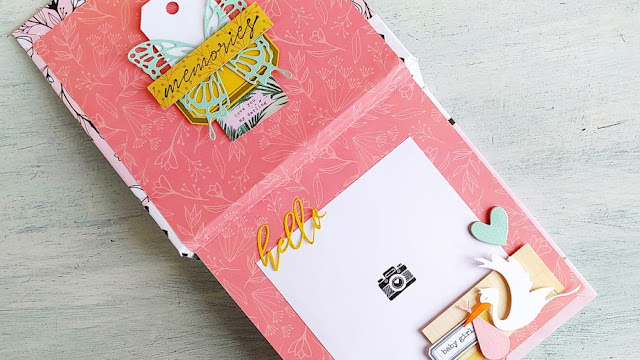 Mini Album Pop Up con Rilegatura a fogli incollati (Glue Back Binding)