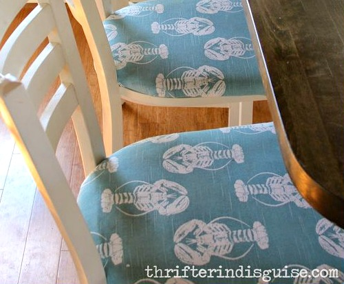Lobster Fabric Bar Stools