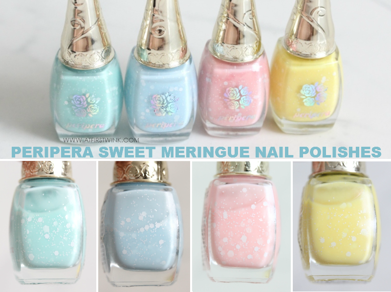 Peripera Sweet Meringue nail polishes