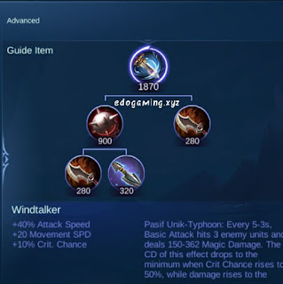 penjelasan lengkap item mobile legends item windtalker