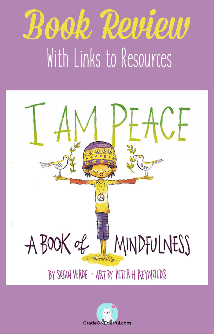 I am Peace book review with links to related resources. By Grade ONEderful