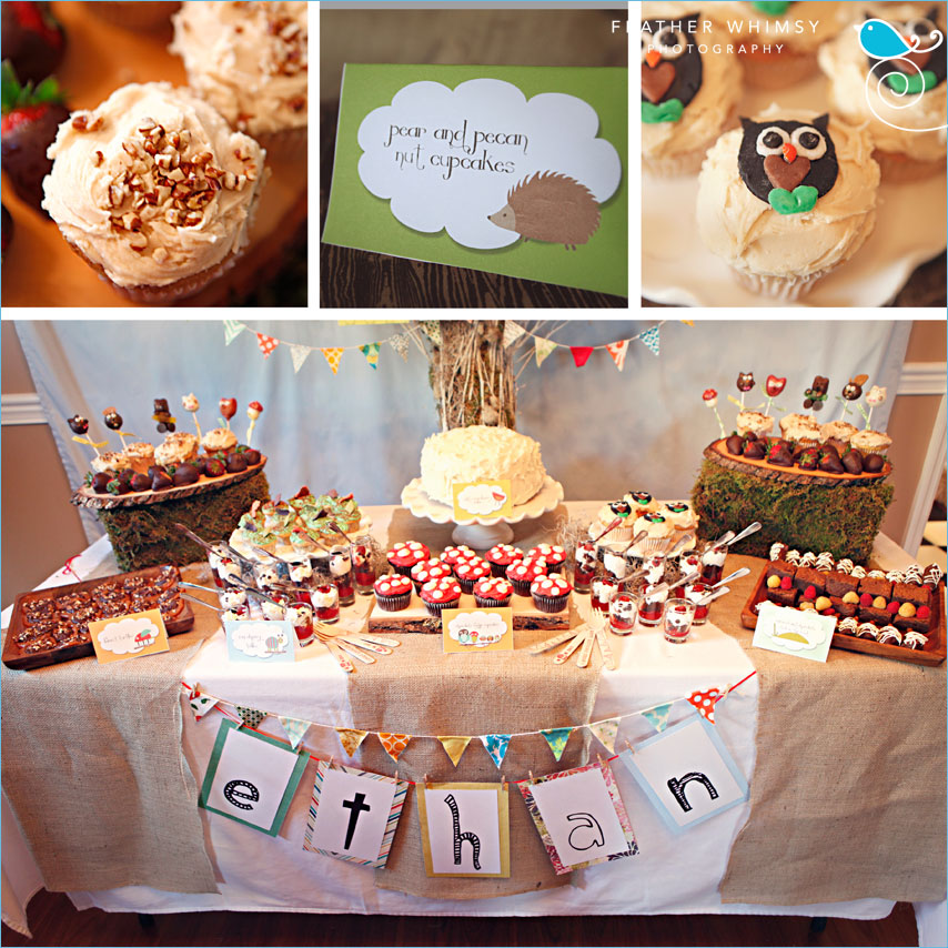 Kara's Party Ideas Retro Woodland 1st Birthday Party