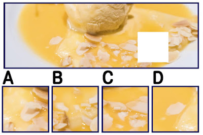 Figure: How is that brain freeze coming? Choose the correct piece.