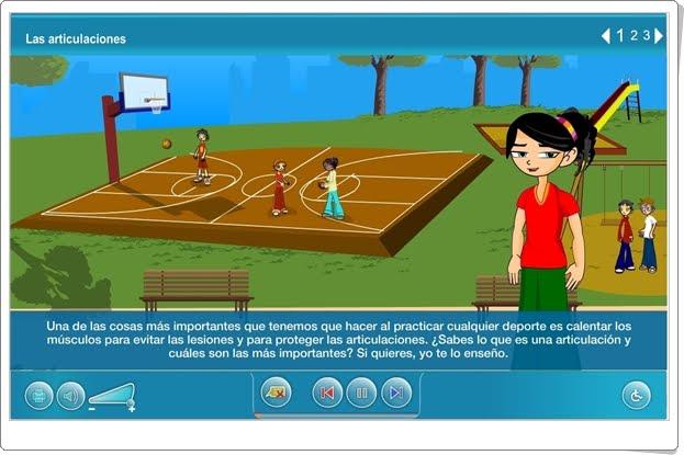"""""""Las articulaciones"""" (Aplicación interactiva de Ciencias Naturales de Primaria)"""
