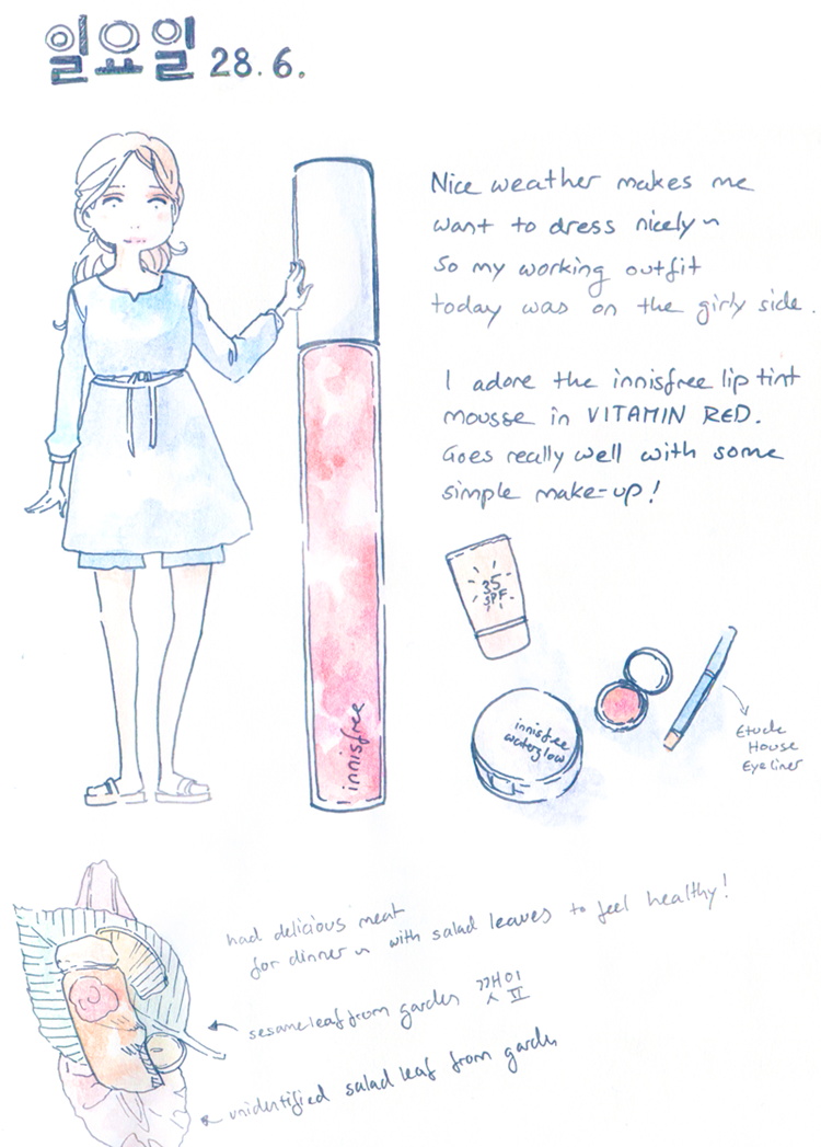 Hobonichi Sketch Diary Drawing