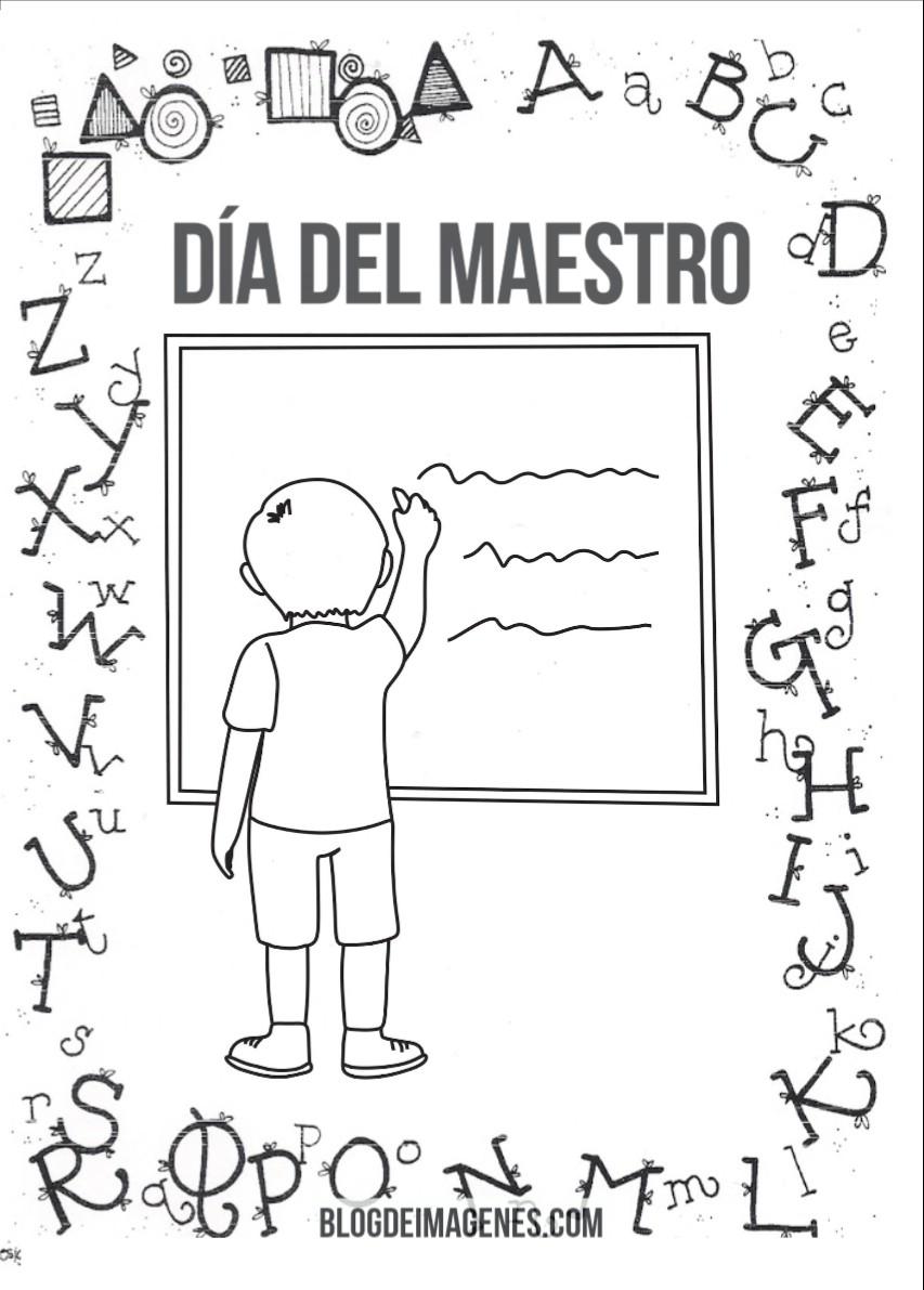 Get Inspired For Dia Del Maestro Imagenes Para Colorear