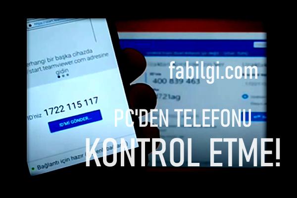 Bilgisayardan Telefonu Kontrol Etme Uygulaması Tanıtım 2021