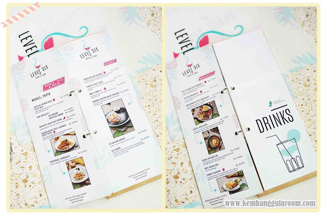 level six cafe bandung menu 2