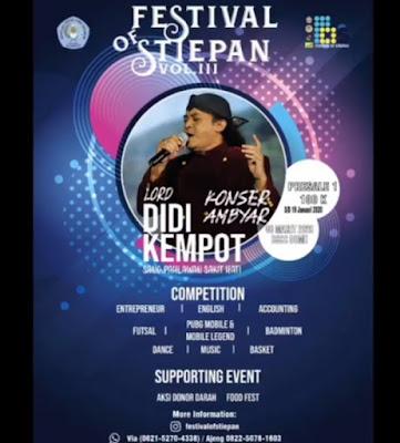 Konser Ambyar Didi Kempot Festival Of STIEPAN Balikpapan Kalimantan