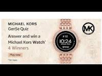 Amazon Michael Kors Gen5e Quiz Answers 25-Feb-2021