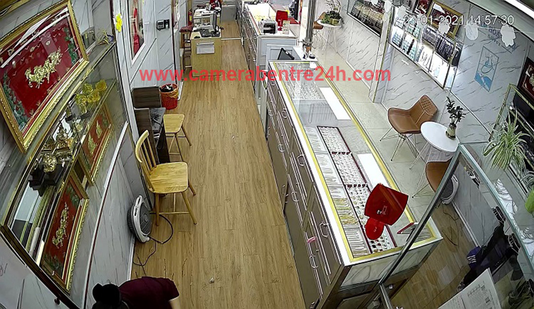 lắp đặt camera quan sát cho tiệm vàng tại giồng trôm