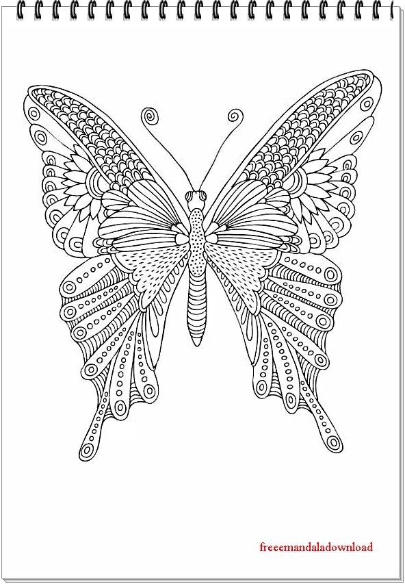 Schmetterling Mandala-Butterfly Mandala Free Printable