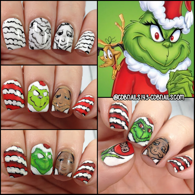 Cdbnails-The Grinch Nail Art