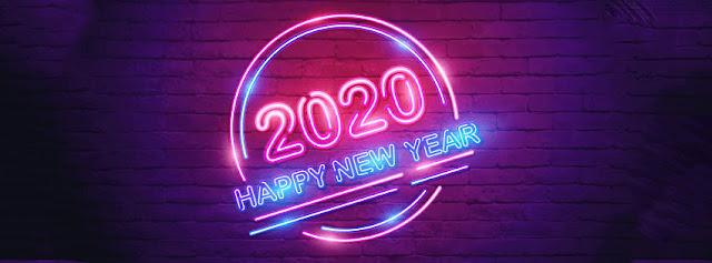 Ảnh bìa tết đền hiệu ứng đèn led 2020