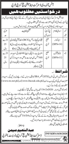 District & Session Court Karachi Jobs 2020 Data Coder and Junior Clerk