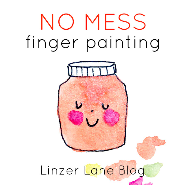 No Mess Finger Painting with Baby | Linzer Lane Blog