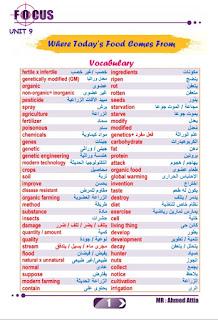 مذكرة لغة إنجليزية للصف الثاني الثانوي الترم الثانى 2020 ، مذكرة focus