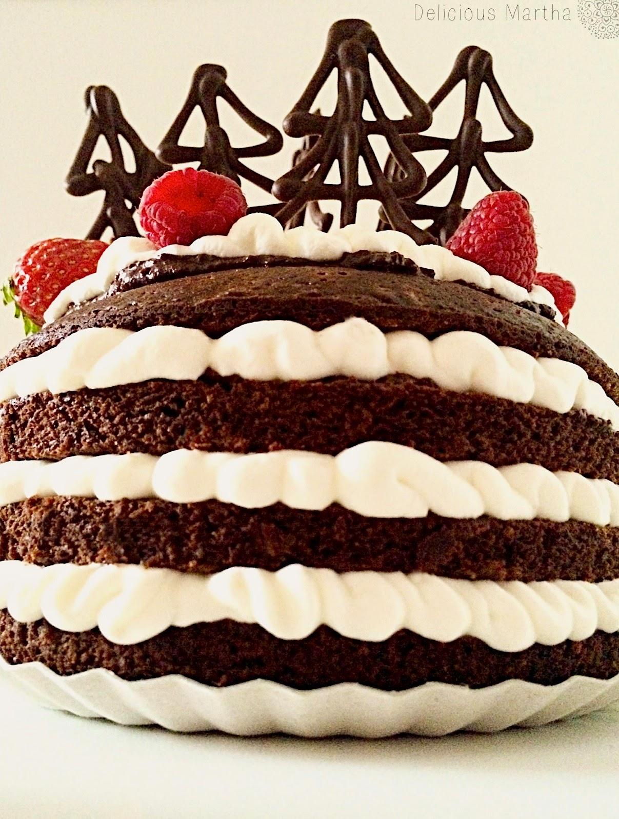 Christmas Cake de chocolate y nata