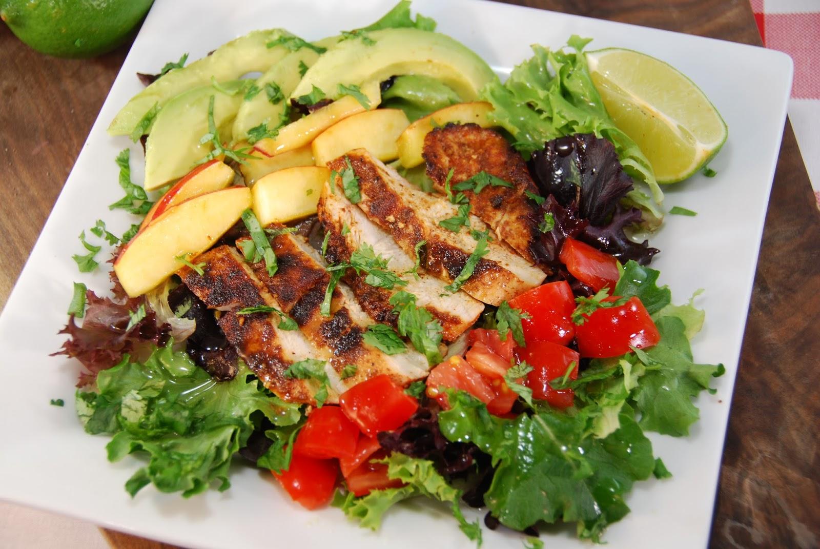 Paleo Rebel Jamaican Jerk Grilled Chicken Salad With A Lime Vinaigrette