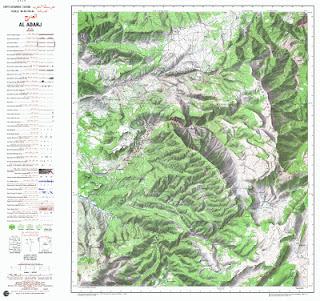 Carte Topographique D'El Adraj 50000