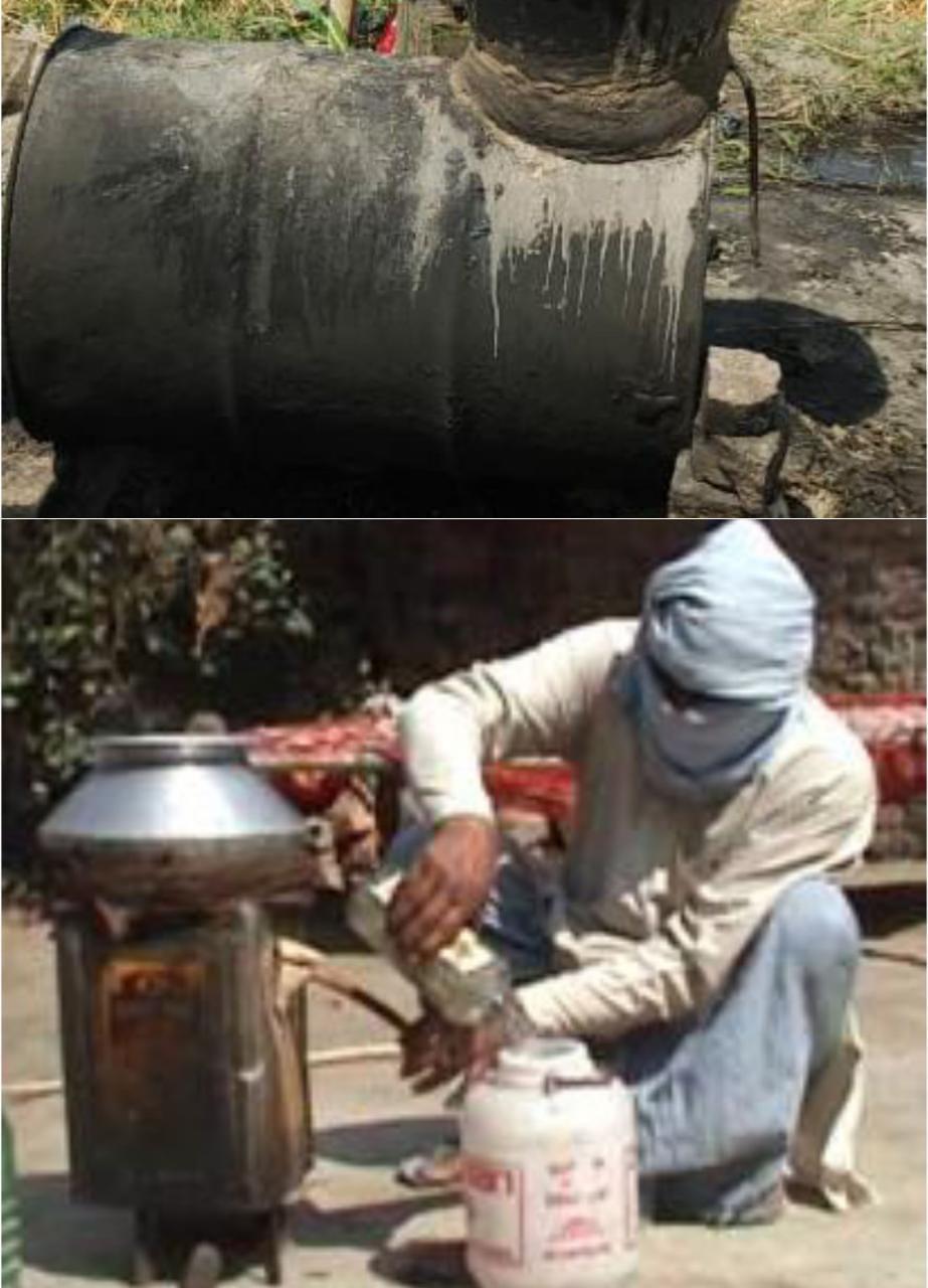 आबकारी व पुलिस की मिलीभगत से गांव-गांव धधक रही कच्ची शराब की भट्ठियां