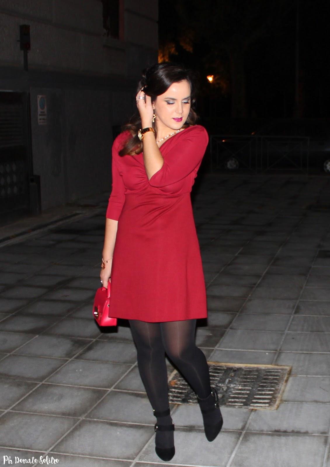 tubino svasato rosso zara fashion blogger salerno