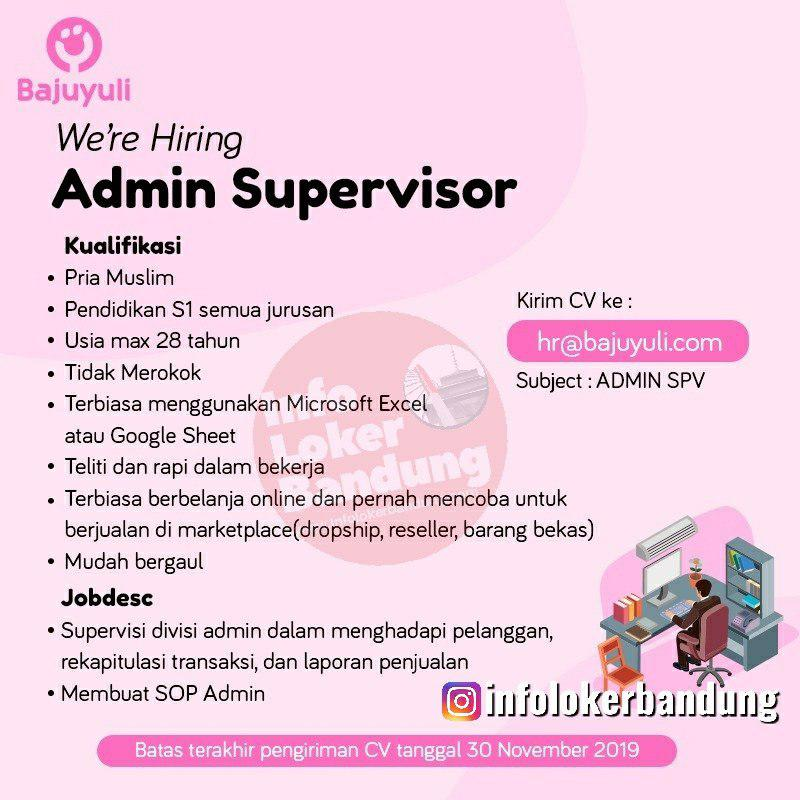 Lowongan Kerja Admin Supervisor PT. Guna Cipta Rekayasa ( Bajuyuli ) Bandung November 2019