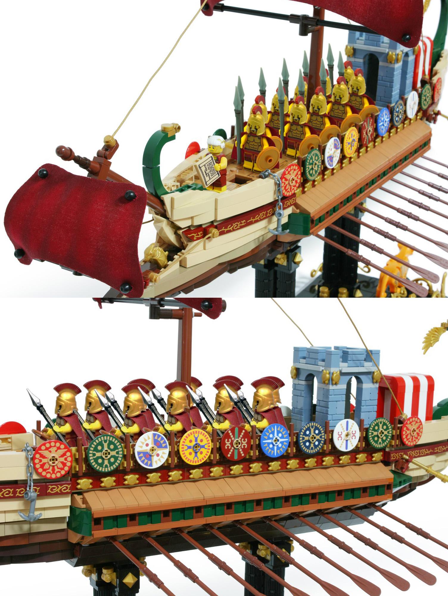 レゴアイデアで『ローマ帝国海軍のガレー船』が製品化レビュー進出!2020年第3回1万サポート獲得デザイン紹介