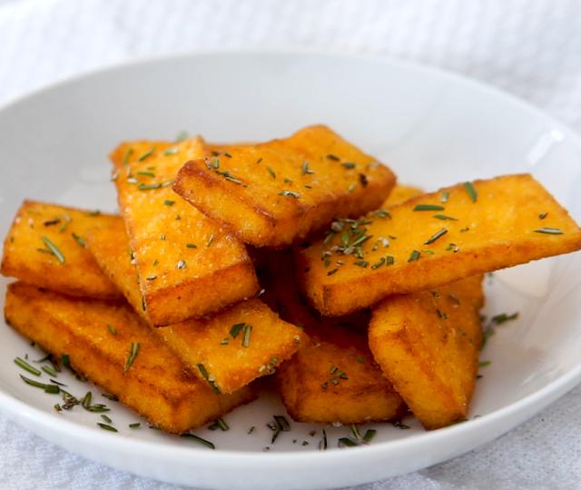 fried polenta chips