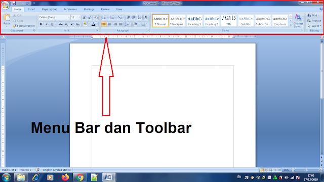 Mempelajari Menu Bar dan Toolbar Yang Ada Pada Microsoft Word, pengertian toolbar pada microsoft word, pengertian menu bar pada microsoft word, menu bar pada microsoft word, toolbar pada microsoft word, pengertian toolbar, download menu bar versi pdf