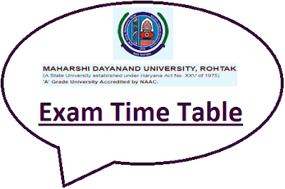 MDU Rohtak Even Sem Time Table 2021