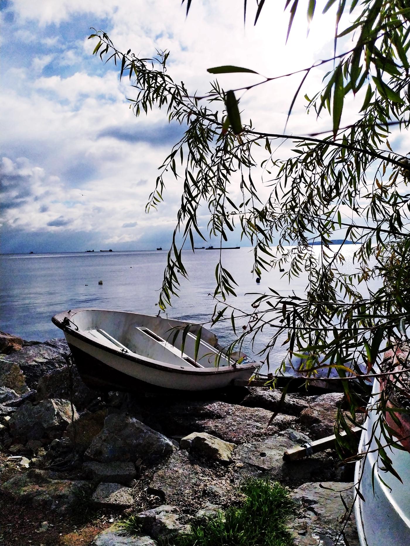 A Boat on the Istanbul Sea Coast